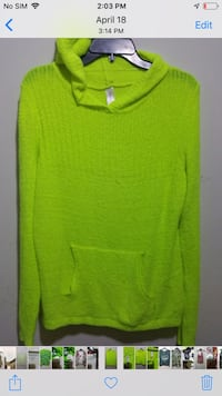 green scoop-neck sweater 23 km
