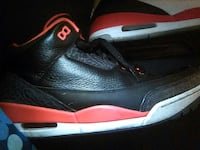 pair of red and black air jordan 3 Las Vegas, 89119