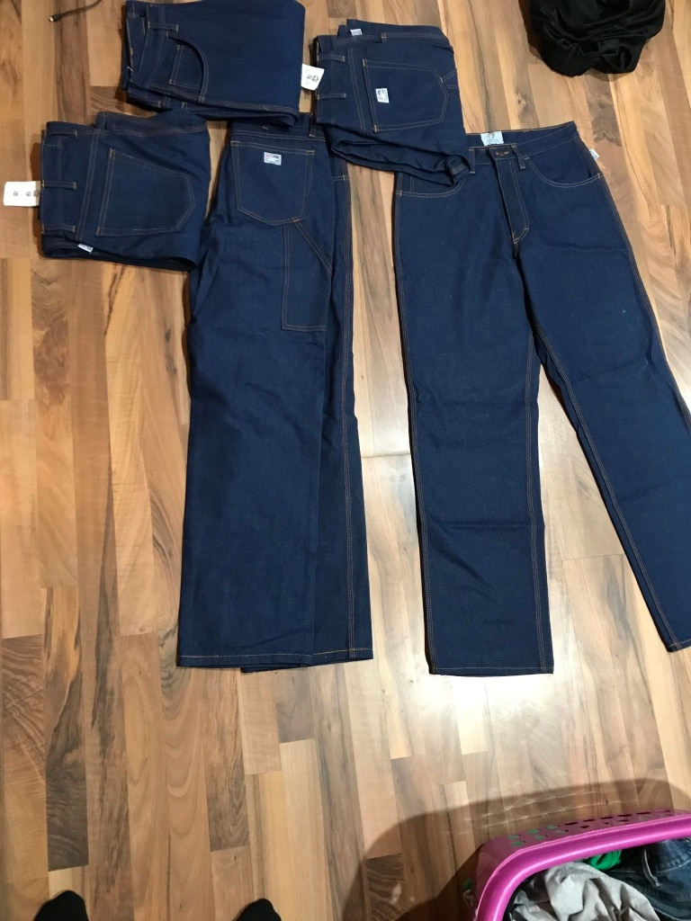 Photo Tyndale FR work jeans 33x32. New