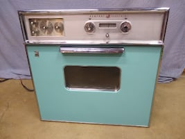 1959 Vintage GE Blue Walloven and Range Stove Top