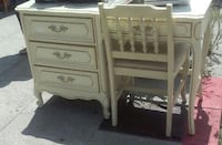 #4448 French Provincial Style Desk with Hutch