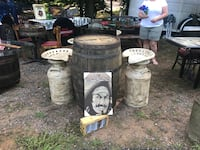 Whiskey barrel and two milk can seats Memphis, 38106