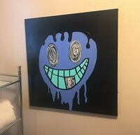 20x20inch Graffiti Style Smile Painting  Baltimore