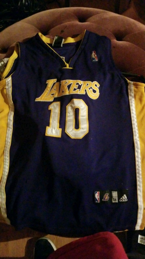 new product 59a0b cf259 Lakers nash Jersey num 10 size 54
