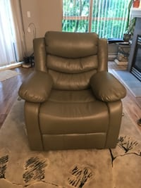 Grey recliner sofa chair PORTCOQUITLAM