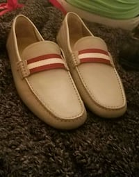 pair of beige leather loafers Atlanta, 30354