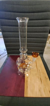 Large Glass Water Pipe with orange tint Placentia, 92870