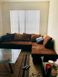 black and brown sectional couch Brandon
