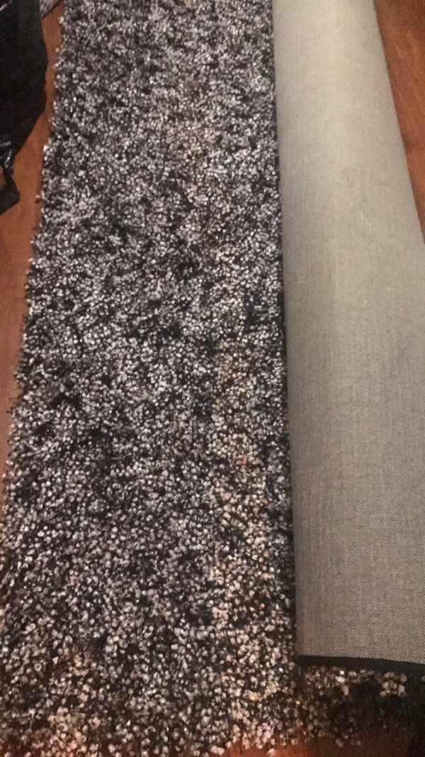 black and gray floral textile