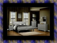 11pc Grey Marley bedroom set with mattress  Adelphi