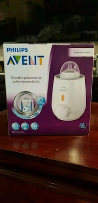 white and blue Philips Avent bottle warmer box 929 mi