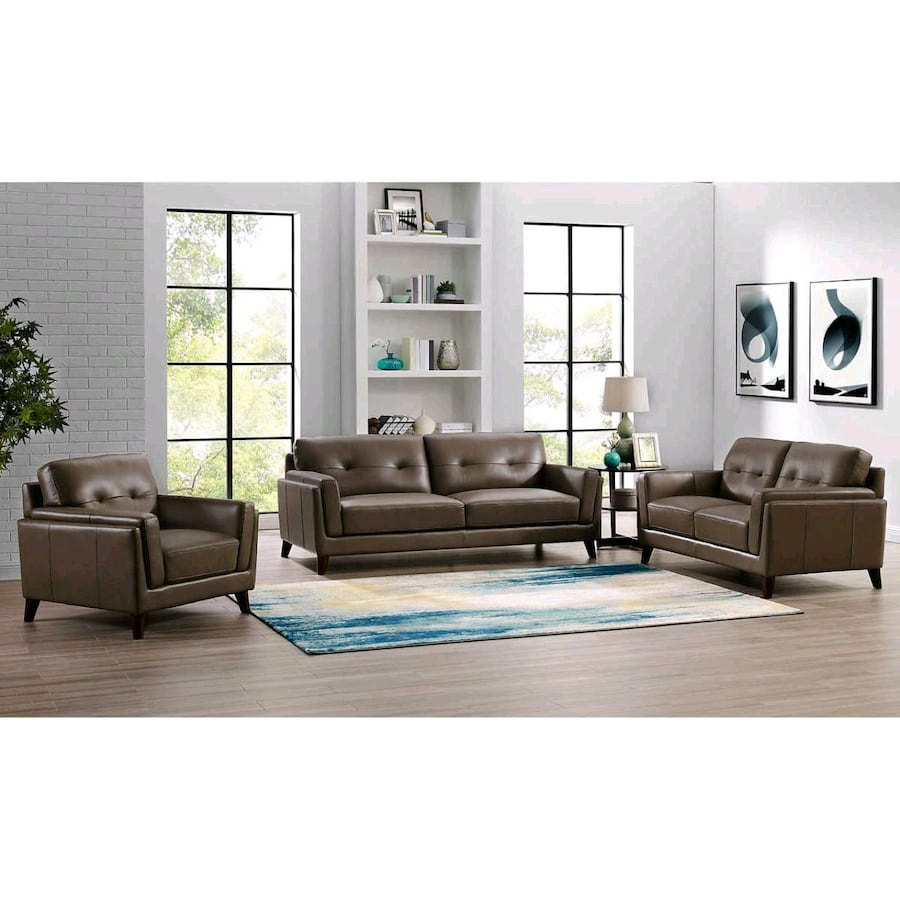 Monterey Top Grain Leather Luxury Sofa 3pc set. (Hard to Find)