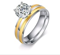 gold-colored and diamond ring Surrey, V3X 1P3