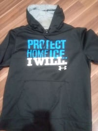 Under Armour (L) black with blue and white hoodie Edmonton, T5A 0Z8