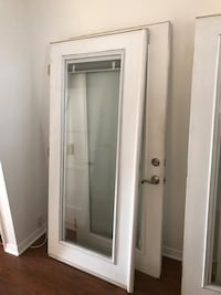 Relia Built double French doors with built in mini blinds 2246 mi