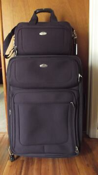 black soft-side luggage null