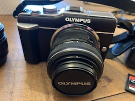 Olympus PEN E PL1 with extra lenses