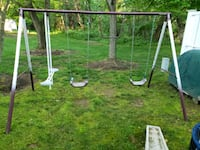 Playgroung with swings and slide