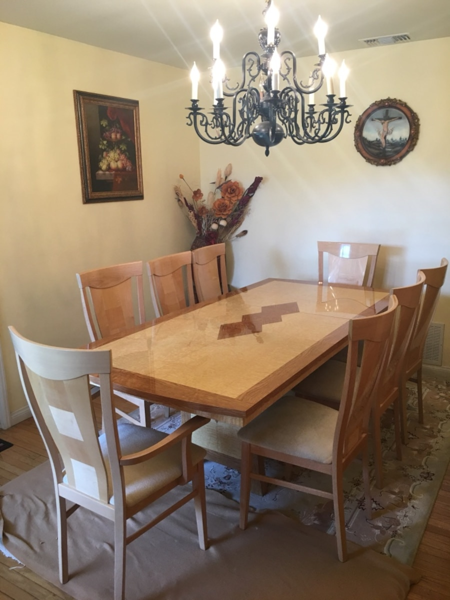 Used rectangular brown wooden dining table with chairs in  : 0f3e54ba07b33993b6149faf7a3476cc from us.letgo.com size 900 x 1200 jpeg 168kB