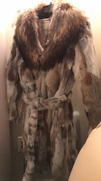 Brown Genuine raccoon and rabbit fur coat Arlington, 22202