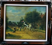 Vintage signed Painting on board very detailed  Toronto, M2J 2C2