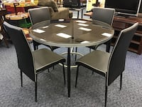 New Round Glass Top Table & 4 Chairs Virginia Beach, 23462