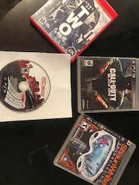4 ps3 games one without case Marietta, 30008