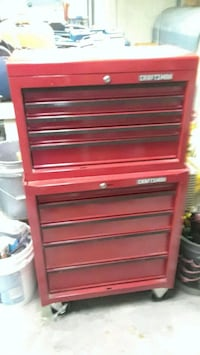 red and black Craftsman tool chest Manchester, 06040
