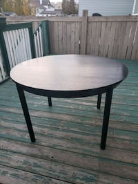 Round black kitchen table  Edmonton, T5R 1W1