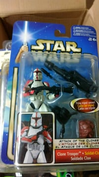 Star Wars action figure in pack