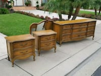 French provincial dresser/mirror and nightstands-2 Modesto, 95356