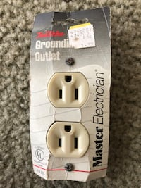 Wall Outlet, Almond