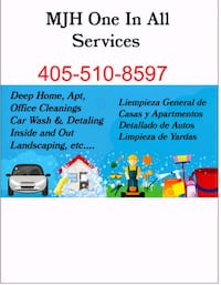Car detailing house & apt cleaning  Oklahoma City