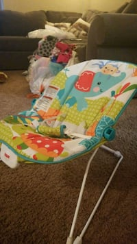 baby's white and blue bouncer Renton, 98058