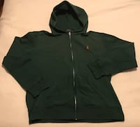New w/o Tags Green Polo Ralph Lauren Zip-Up Hoodie Men's XL Excelsior, 55331