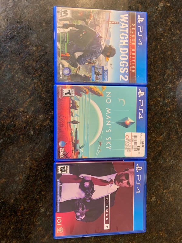 Used Ps4 Games Watch Dogs 2 No Mans Sky Hitman 2 For Sale In