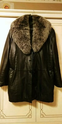 Womens black lambskin leather jacket Lakeshore, N0R 1A0