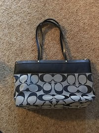 Coach monogrammed tote purse bag. brand new! REAL! NOT A KNOCK OFF