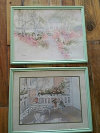 Pair watercolor prints Corpus Christi, 78414