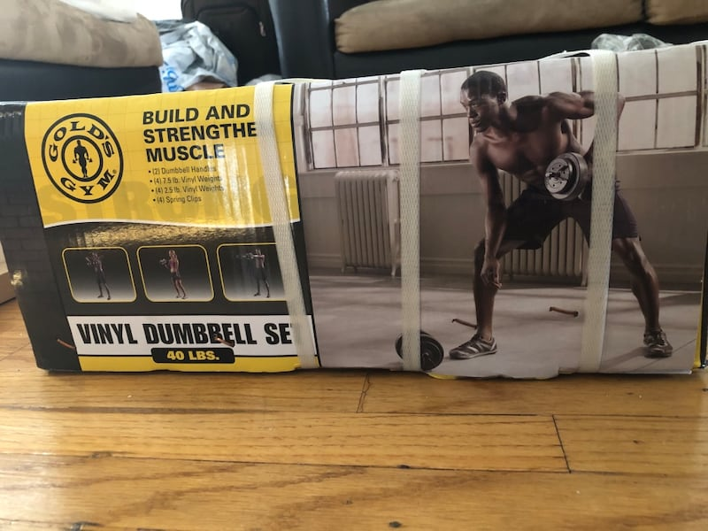 40LB Vinyl Dumbbell Set (Gold's Gym) 35e23fb3-dfd0-4fc7-88be-14ead569f4ed
