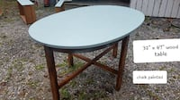 Oval wood table, Nice table!! Thurmont