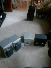 black and gray home theater system Racine, 53404