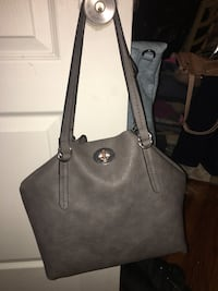 women's gray leather tote bag Springfield, 65804