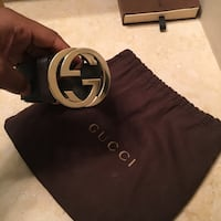 black Gucci leather belt with box Houston, 77024