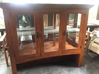 Craftsman Hutch and Buffet BOTH PIECES. Mission style china cabinet Pasadena, 91106