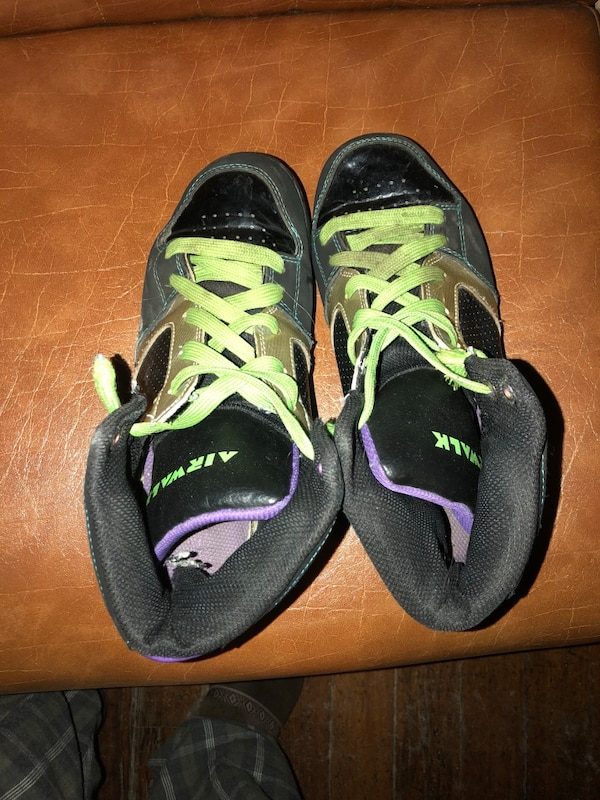 14fbbaf5ed0c Used pair of black-and-green sneakers for sale in Keene - letgo