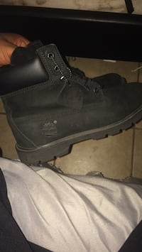 Pair of black nubuck timberland work boots Mobile, 36605