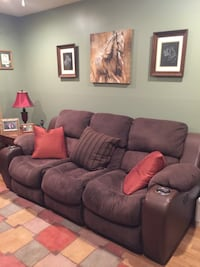 Microfiber sofa with 2 end Motorized Recliners East Northport, 11731