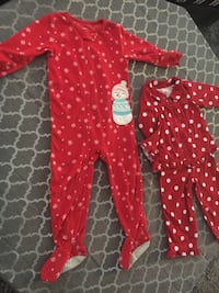 toddler's red and white polka dot footie pajama Montréal, H4N