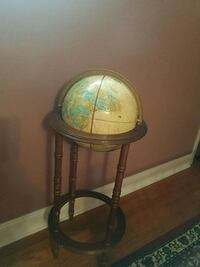 World Map Globe with wooden stand